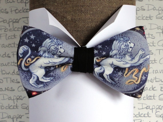 Pre tied bow tie, Leo birth sign bow tie, bow ties for men, birthday bow ties