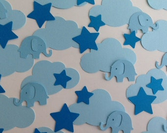 Boys Baby Shower or Birthday Party table confetti sprinkles
