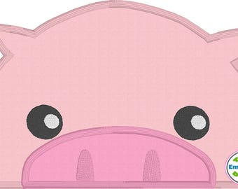Pig Peeker Applique