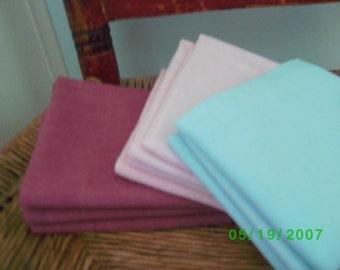 Vintage  Solid Color Floursack   Quilting/Vintage Quilt Repair Light Blue