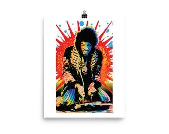Jimi Hendrix Pop Art Home Decor Wall Art Prints