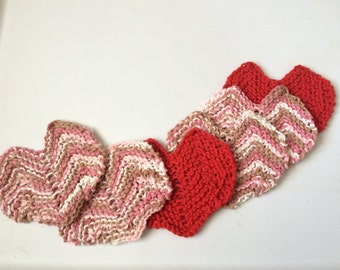 Mini Heart Washcloths