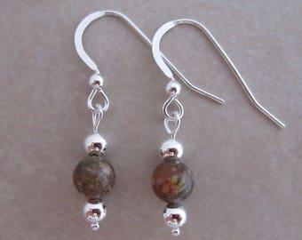 autumn jasper earrings sterling silver dangle