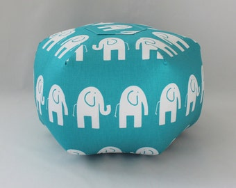 Elephant pouf,  dorm decor, ottoman, floor pillow, foot stool, floor cushion, dorm furniture, college gift, dorm room stool, pouf, custom
