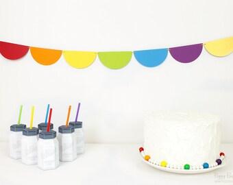 Rainbow Garland Kit : U-String Half Circle Bunting | Unicorn Party Decoration | Art Party | Wizard of Oz | St. Patrick's Day Photo Prop