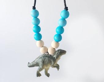 Beaded Dinosaur Necklace - Kid's Necklace - Dinosaur Necklace - Boy Necklace - Girl Necklace - Dinosaurs - Dinosaur Gift -Dinosaur Accessory