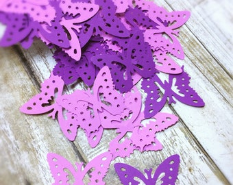 Butterfly Confetti, Purple Butterfly, Butterfly Die Cuts, Spring Butterfly Confetti, Birthday Party, Garden Party