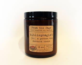 Bibliophagist - 8 oz candle
