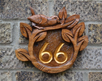 address numbers, Wood carving, address sign, house number plaque, craftsman, wood wall art outdoor house numbers address sign for your house