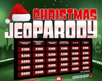 Christmas Jeopardy Trivia Powerpoint Game - Mac and PC Compatible