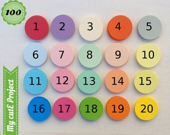 100 - Gift tags circle - Cupcake toppers - Color of your choice - 20 colors - Wedding tags - Baby Shower tags & cupcake toppers