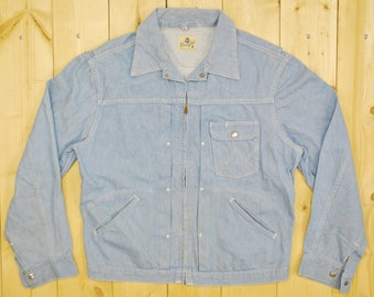 1950's/60's WRANGLER 24MJZ BLUE BELL Jean Jacket / Sanforized / Made in the U.S.A. / Retro Collectable Rare