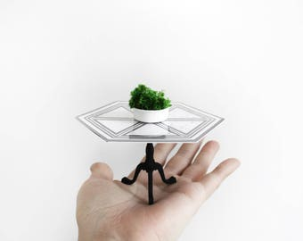 Modern Chippendale table 1/12th