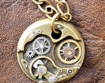 Steampunk Mechanical Necklace