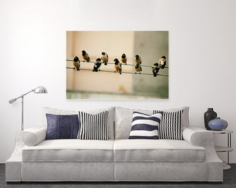 Birds on Wire-Photography on Canvas | Wall Art