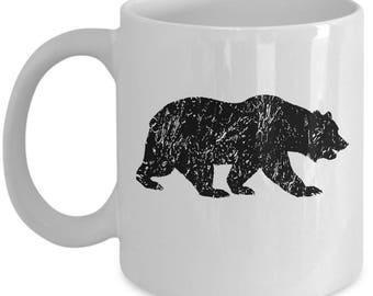 Walking Bear Vintage Bear Silhouette Cool Gift Mug