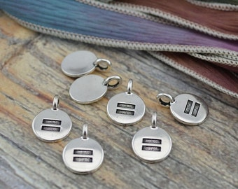 EQUALITY SYMBOL Charms, Antique Silver, TierraCast, Tiny Equal Sign LGBT Charms, Drops, Qty 4 to 20 Yoga Meditaton Wrap Bracelet Charms