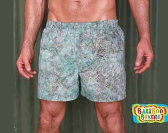 Batik Boxer Shorts, Baliboo Boxers, SAMPLE ONLY, Colorful Boxers, Hipster Loungwear, Gifts Under 25