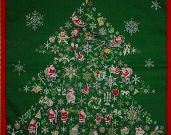 Christmas Tree Fabric Furoshiki Cloth Cotton Japanese Fabric w/Free Insured Shipping