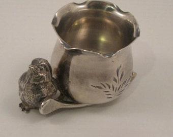 Antique  Victorian  Quadruple Silver Match or Toothpick Holder