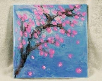 Resin Art, Cherry Blossom Design