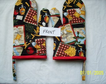 Italian Cooking Oven Mitts