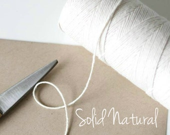 Natural Bakers Twine - Solid Natural Twinery - Scrapbooking - Invitation Wrapping String - Crafting - Packaging Supply - 240 Yard Full Spool