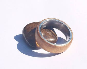 special gift, osage orange wood ring.