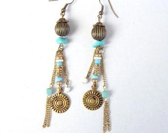 "unique dangle earrings ethnic model ""laguna"""
