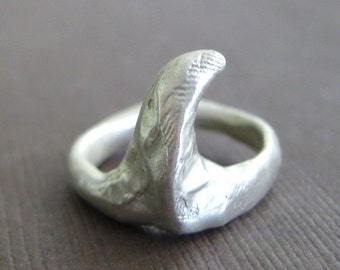 Sculptural Sterling Claw Sterling Ring Organic Jewelry Fingerprint Ring Jewelry SALE
