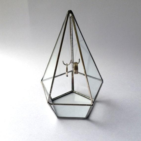Ring Bearer Box , Geometric Ring Box , Wedding Ring Holder , Glass Display Box ,  Jewelry Box