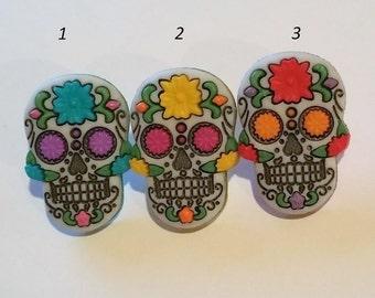 Sugar Skull Day of the Dead Pin