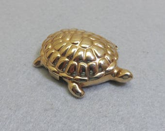 1960's Avon Turtle Fragrance Sachet Trinket Box