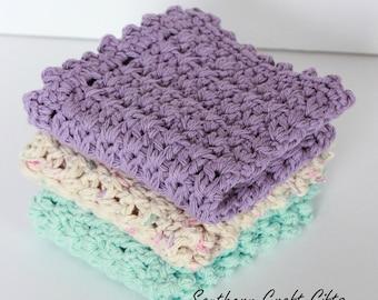 Lilac Dishcloth Set