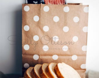 Color Print Groceries Bread Kitchen Print Stock Photography
