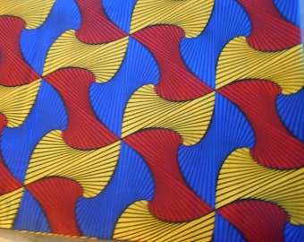 African fabric cotton blend, wax (Ankara) 45 cm x 116 cm