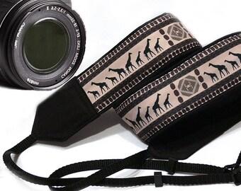 Giraffe Camera Strap. Ethnic Camera Strap, African Camera Strap. Accessories