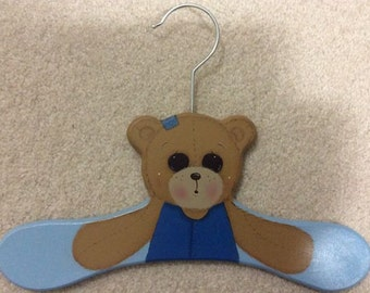 Painted Bear Coathanger for Baby Boy
