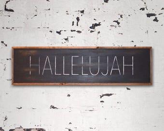 HALLELUJAH Wood Sign