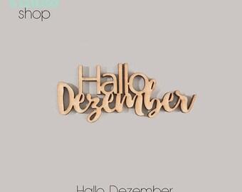 078-Hello December Wood Element