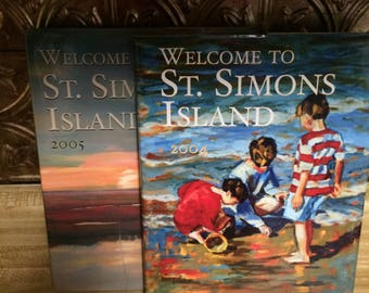 Beach Books for Crafting St. Simons Island Water Paintings Landscapes Scrapbooking