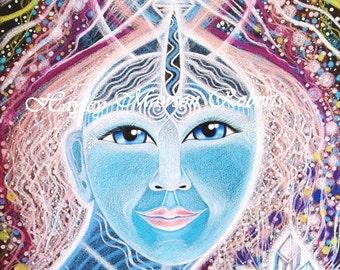 """Arcturian Goddess  """"Seeriah"""" - A4 PRINT 8.5 x 11.5"""