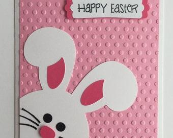 Handmade Easter Card, Bunny, Rabbit, Happy Easter