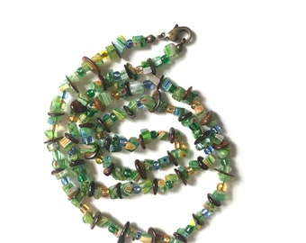 Viking trade beads/ swag/ bling/ bead strands glass beads hand strung necklace