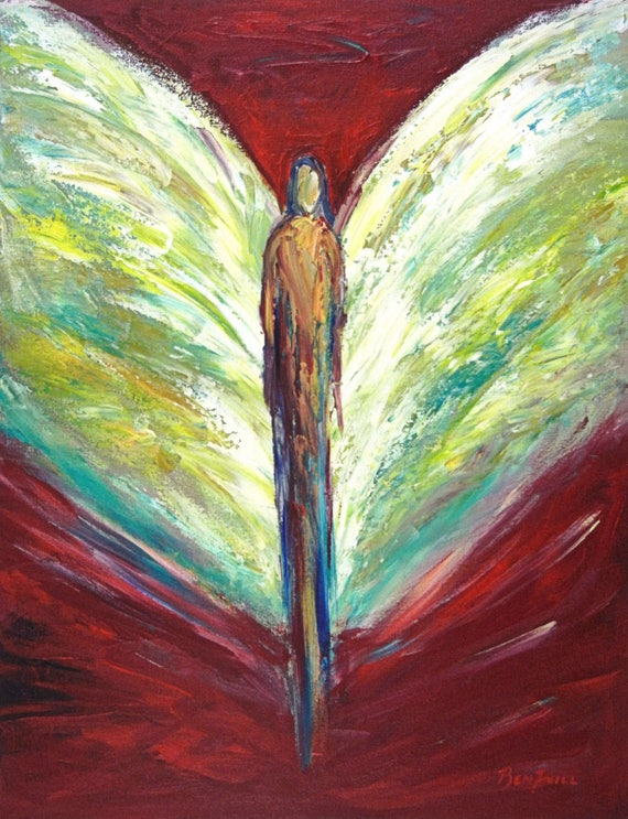 Angel Infinite Delight Vision of Angels Print of an Original Painting by artist BenWill