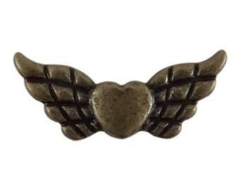 10 intercalires heart and bronze pir146 ailescouleur