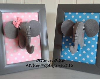 Dorit and Ollie of felt-Handicraft package