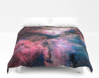 Milky Way Duvet Cover, Nebula Bedding Cover, Outer Space Bedroom Decor, Home Decor, King, Queen, Full