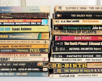 Vintage Science Fiction Paperback Book Collection