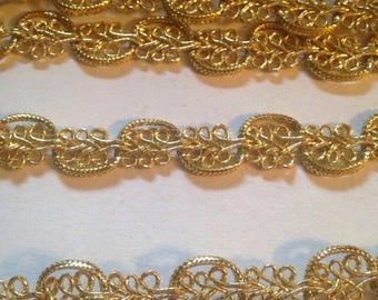 Vintage Metallic Gold Trim Costume